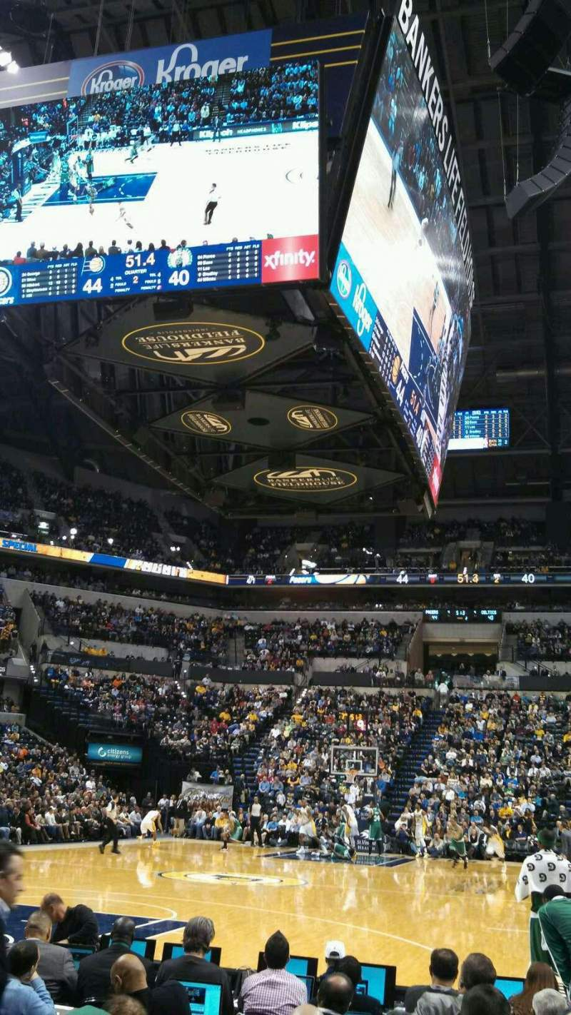Seating view for Bankers Life Fieldhouse Section 9 Row 7 Seat 19