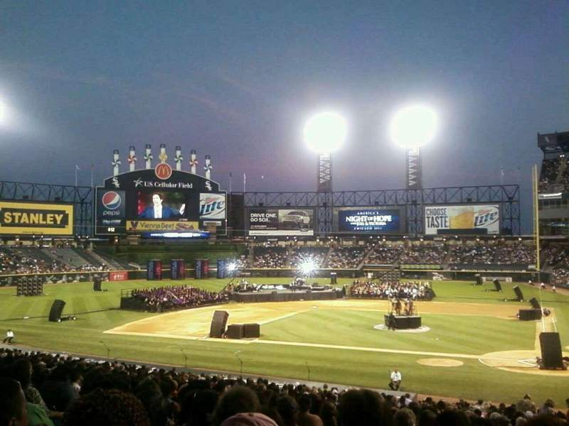 Seating view for Guaranteed Rate Field Section 136