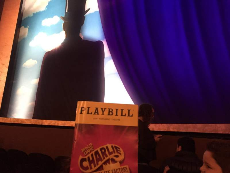 Seating view for Lunt-Fontanne Theatre Section Orchestra Center Row D Seat 114
