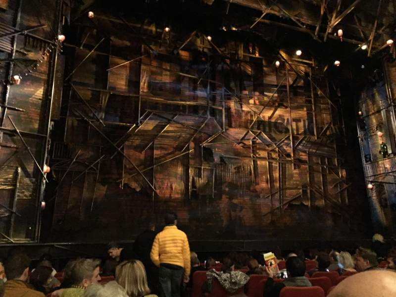 Seating view for Broadway Theatre - 53rd Street Section Orchestra Left Row K Seat 2