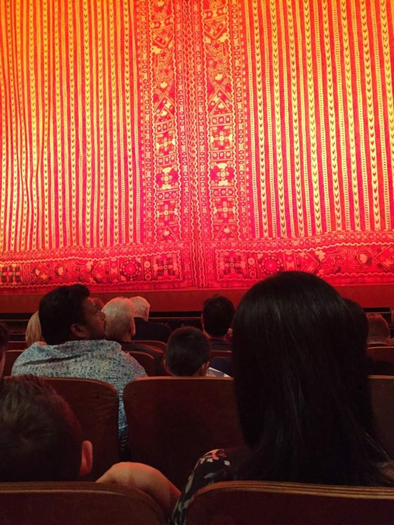 Seating view for New Amsterdam Theatre Section Orchestra C Row E Seat 103