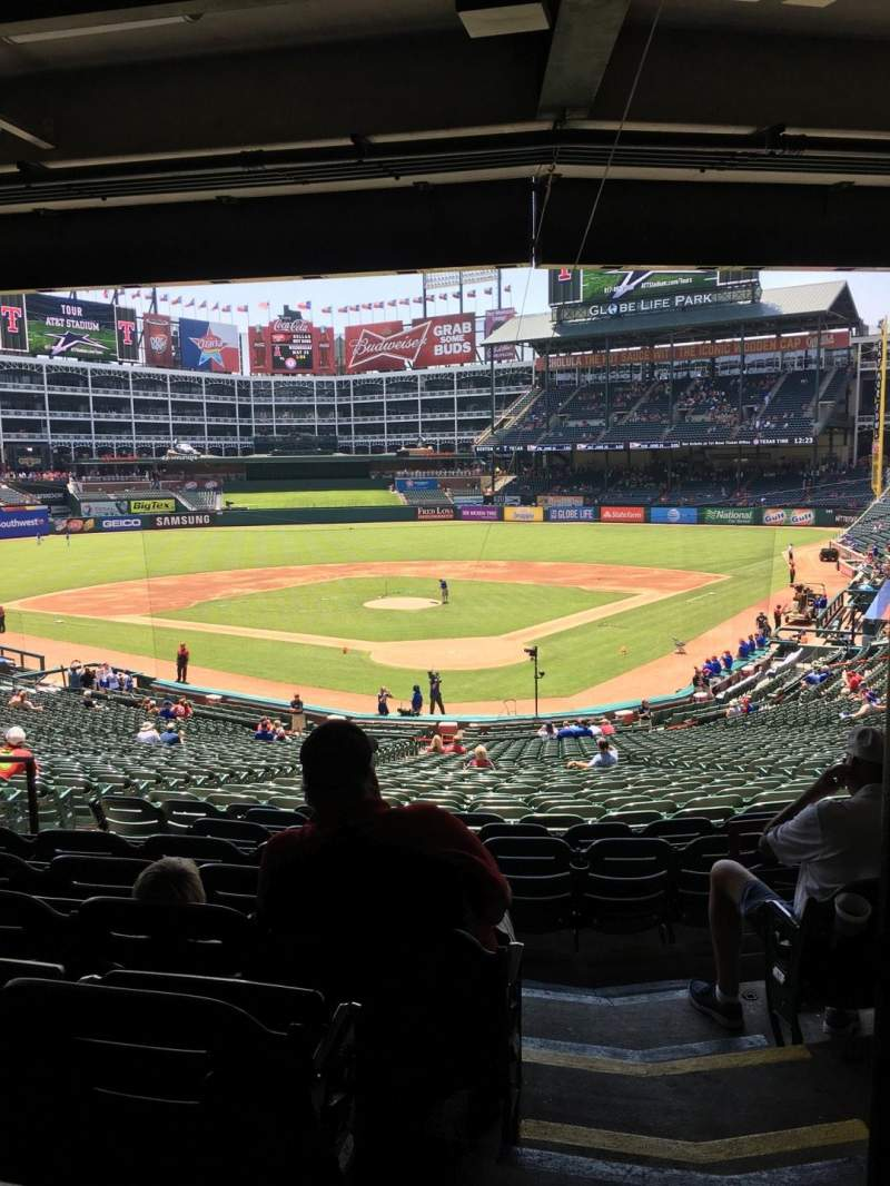 Seating view for Globe Life Park in Arlington Section 125 Row 37 Seat 15
