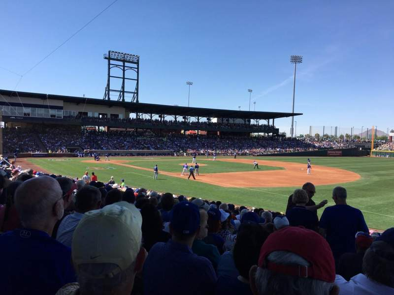 Seating view for Sloan Park Section 119 Row 23 Seat 20