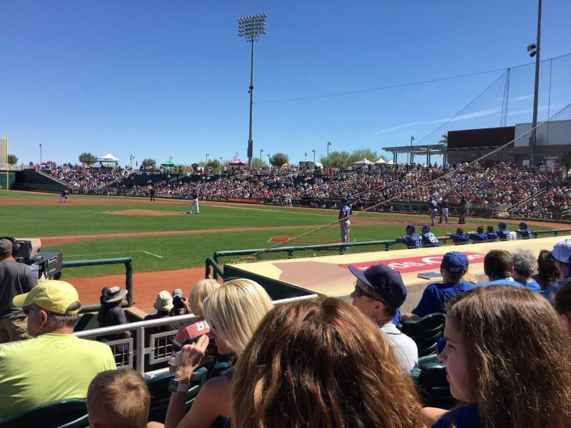 Seating view for Goodyear Ballpark Section 107 Row H Seat 16
