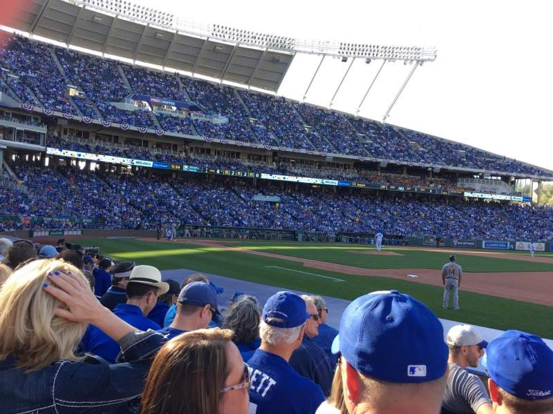 Seating view for Kauffman Stadium Section 138 Row E Seat 10