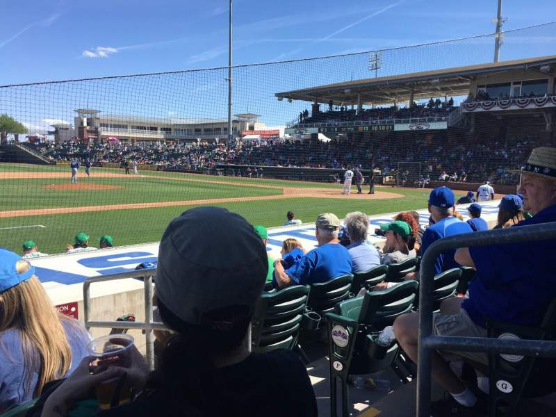 Seating view for Surprise Stadium Section 111 Row H Seat 1