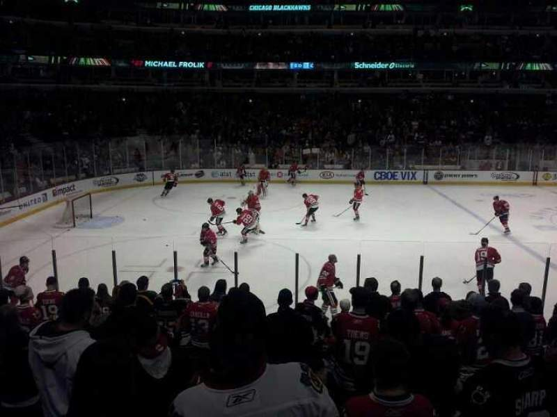 Seating view for United Center Section 102 Row 12 Seat 7 and 8