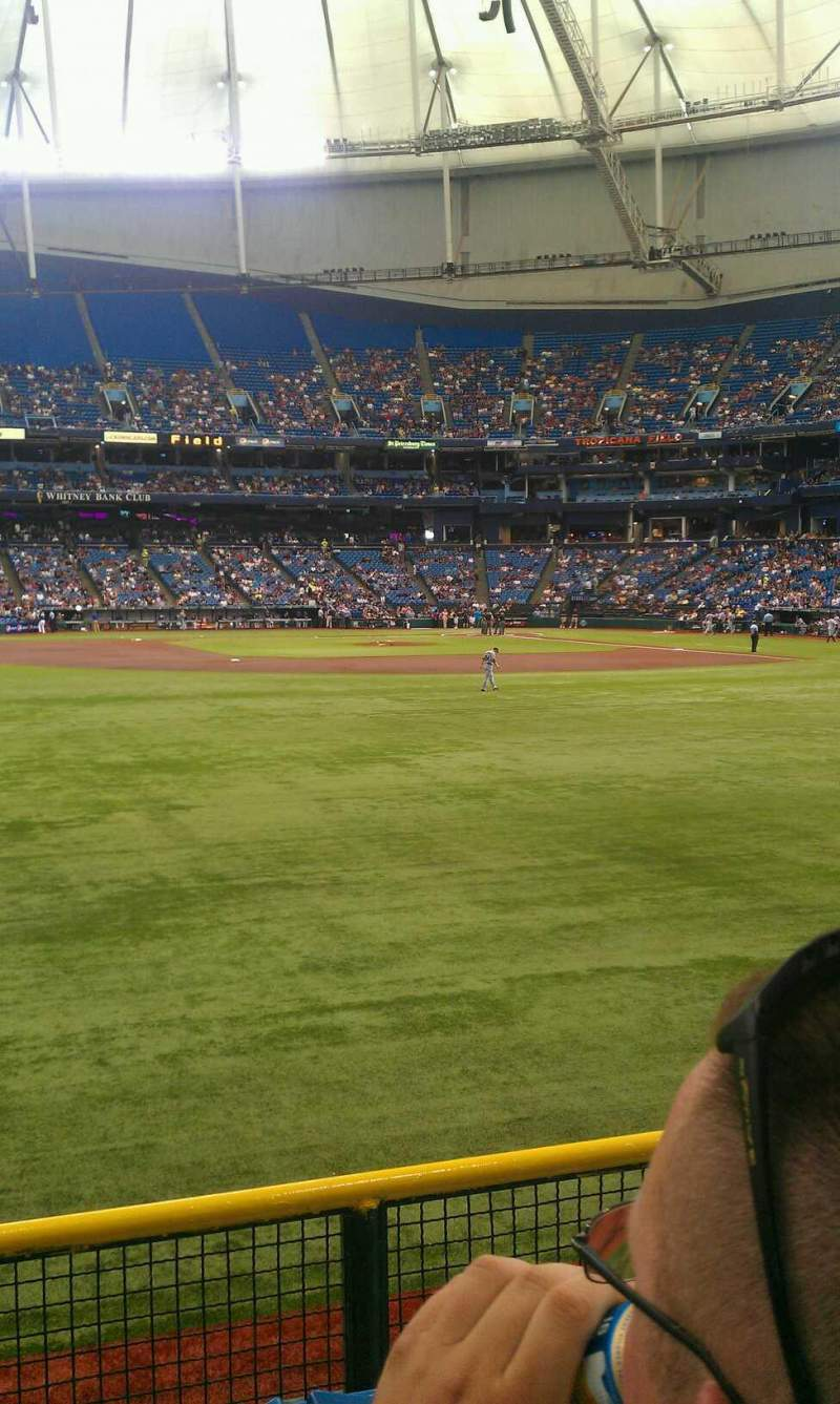 Seating view for Tropicana Field Section 147 Row w Seat 16