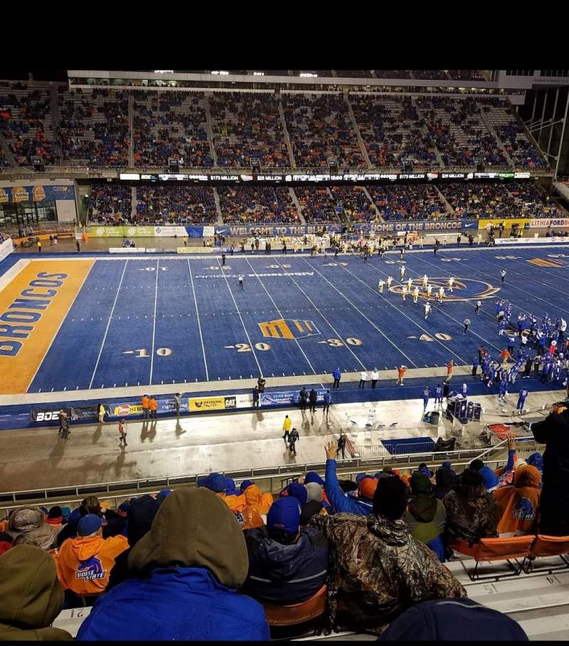Seating view for Albertsons Stadium Section 125 Row R Seat 13