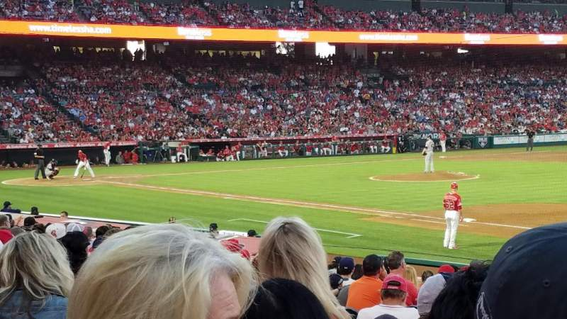 Seating view for Angel Stadium Section F127 Row R Seat 9