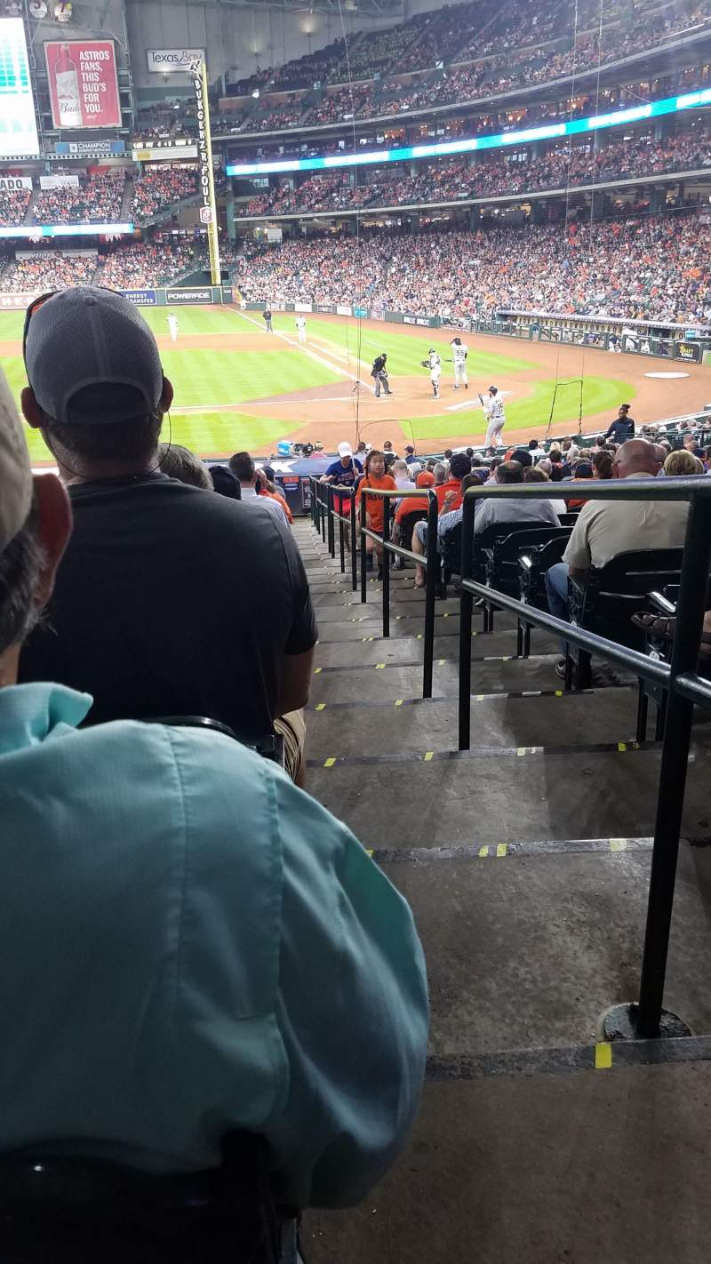 Seating view for Minute Maid Park Section 114 Row 28 Seat 1