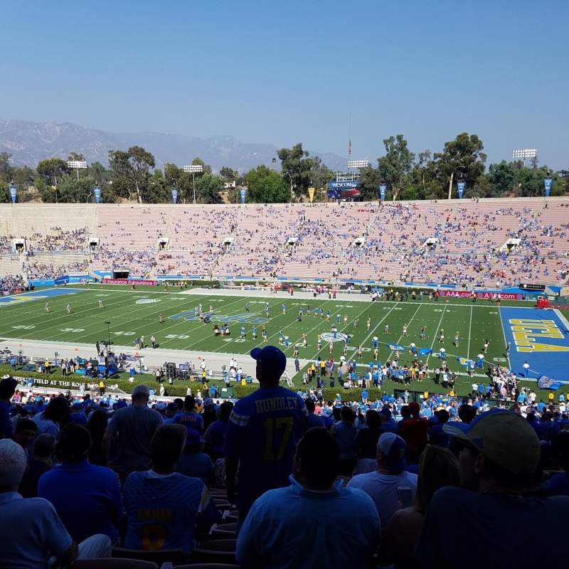 Seating view for Rose Bowl Section 20-H Row 70 Seat 118