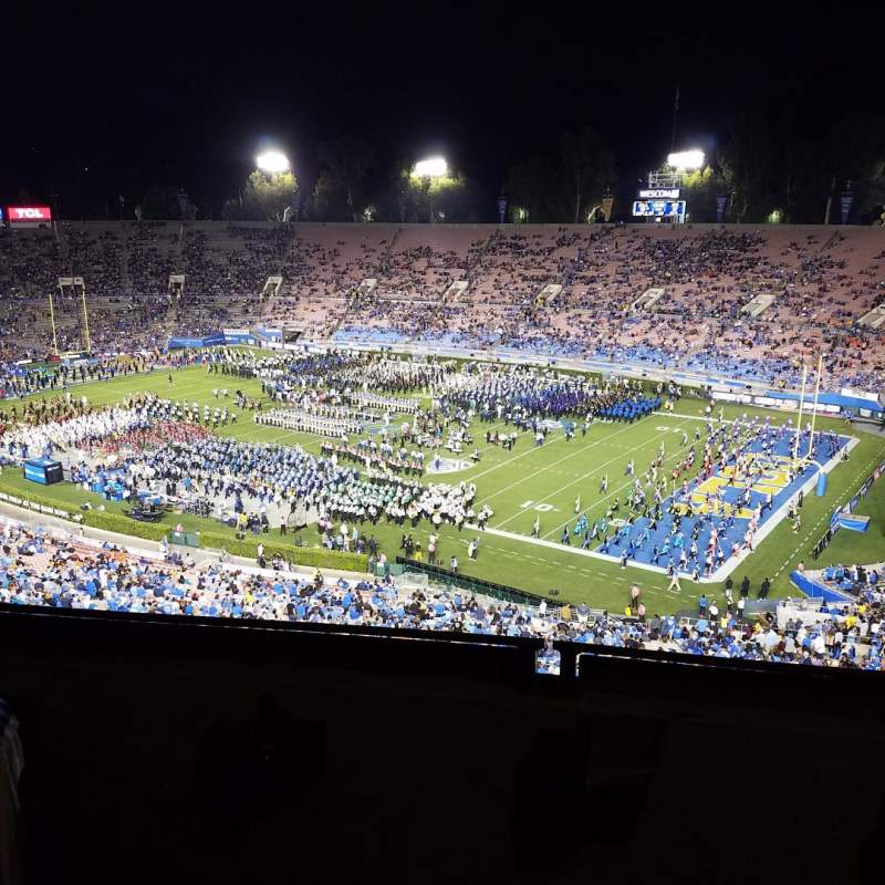 Seating view for Rose Bowl Section Club E202 Row B Seat 3