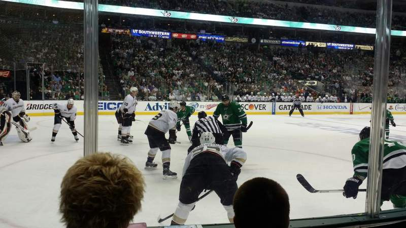 Seating view for American Airlines Center Section 109 Row C Seat 6