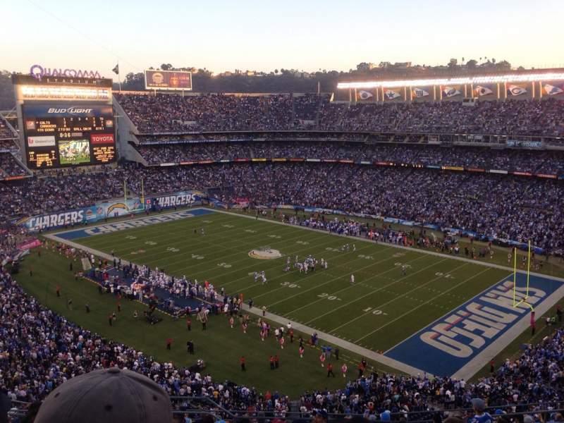 Seating view for Qualcomm Stadium Section VC14 Row 14 Seat 3