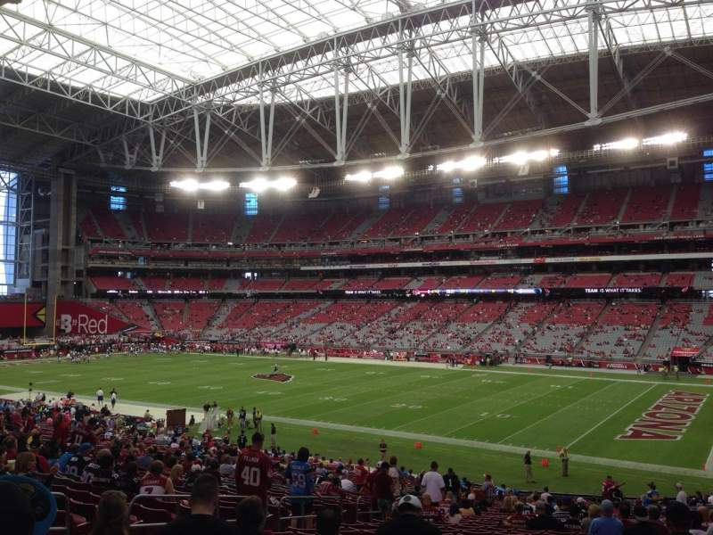 Seating view for University Of Phoenix Stadium Section 125 Row 39 Seat 11