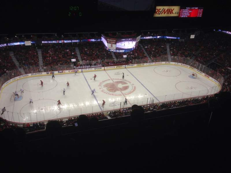Seating view for Scotiabank Saddledome Section PL7 Row 4 Seat 2