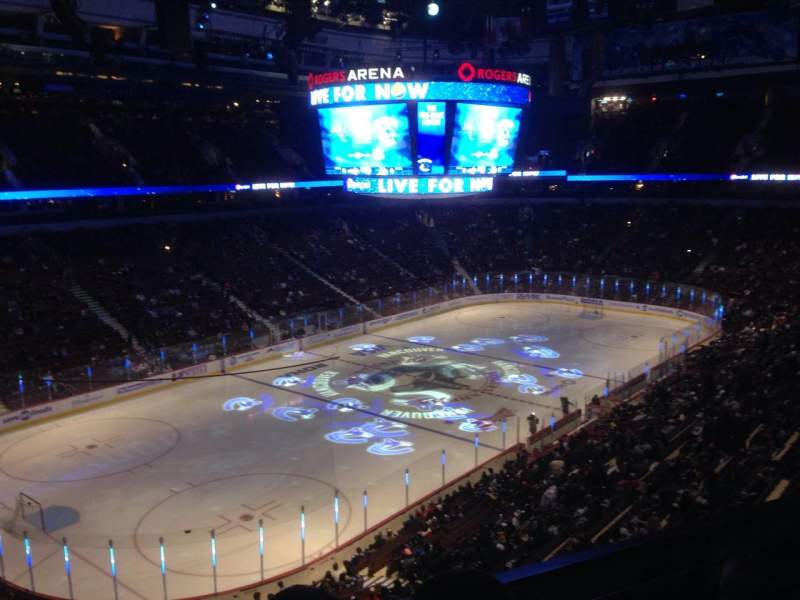 Seating view for Rogers Arena Section 327 Row 4 Seat 3