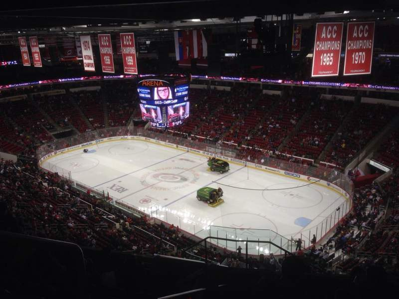 Seating view for PNC Arena Section 337 Row K Seat 14