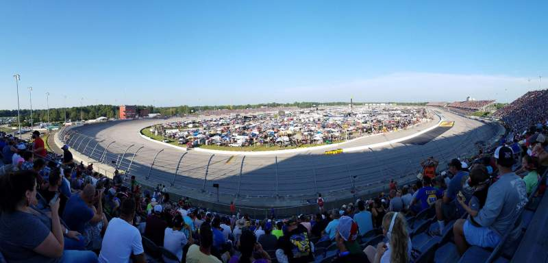 Seating view for Darlington Raceway Section Pearson Q Row 19 Seat 12
