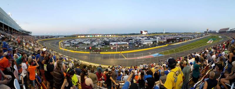 Seating view for Charlotte Motor Speedway Section CHRYK Row 33 Seat 26