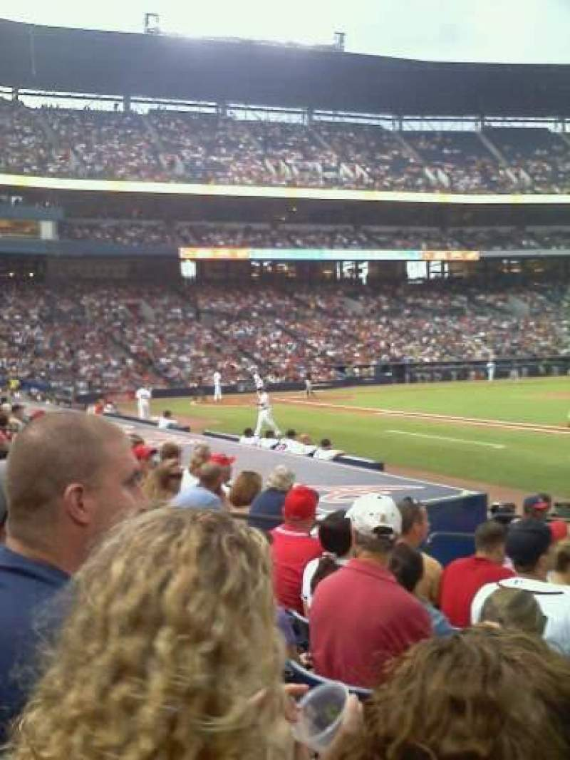 Seating view for Turner Field Section 117 Row 10