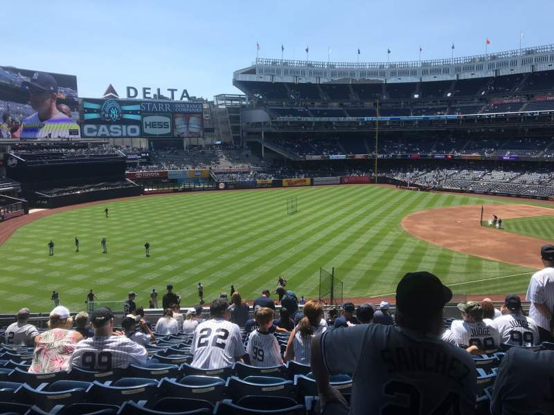 Seating view for Yankee Stadium Section 229 Row 17 Seat 12