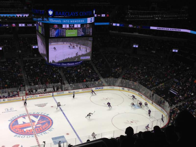 Seating view for Barclays Center Section 226 Row 16 Seat 1