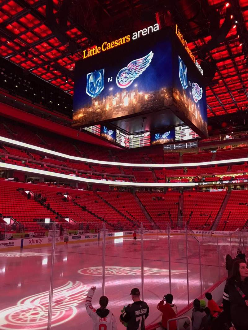 Little Caesars Arena, section: 113, row: 7