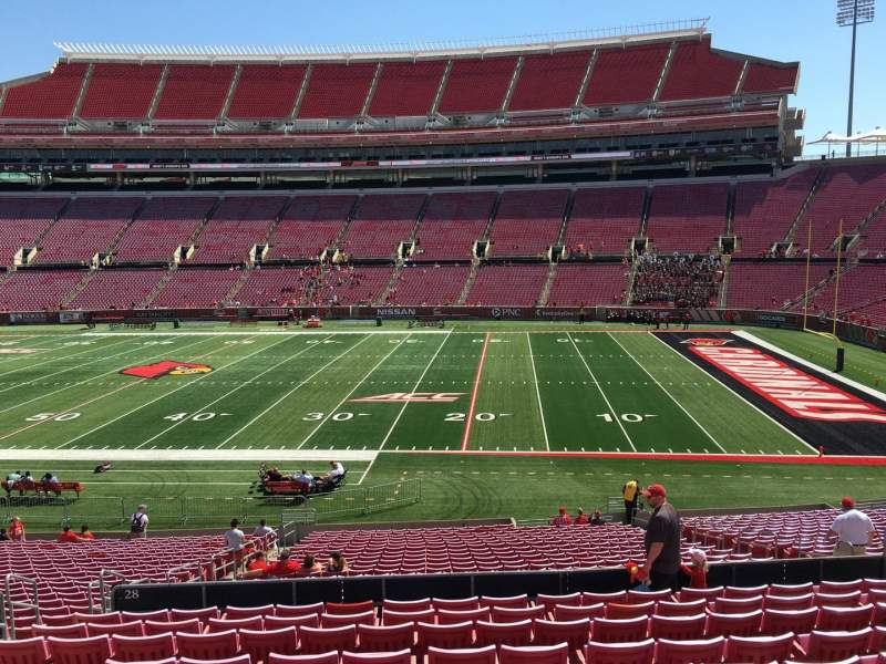 Seating view for Papa John's Cardinal Stadium Section 228 Row L Seat 115
