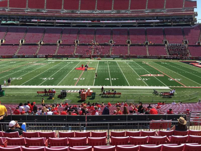 Seating view for Papa John's Cardinal Stadium Section 230 Row M Seat 110