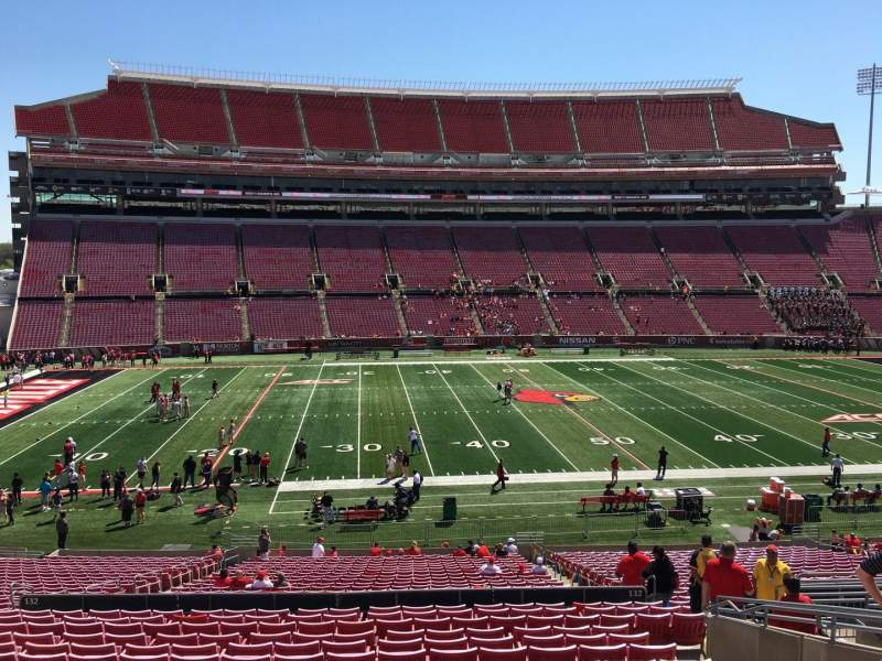 Seating view for Papa John's Cardinal Stadium Section 232 Row S Seat 109