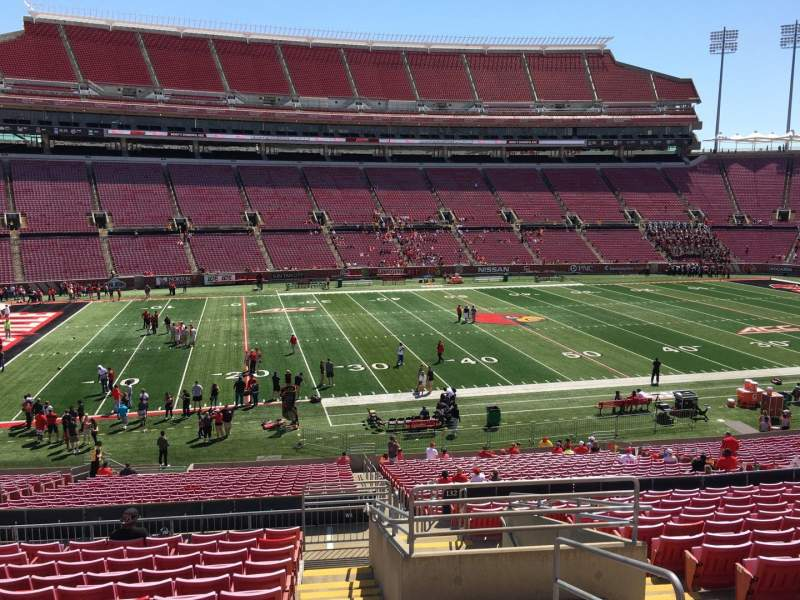 Seating view for Papa John's Cardinal Stadium Section 233 Row S Seat 3