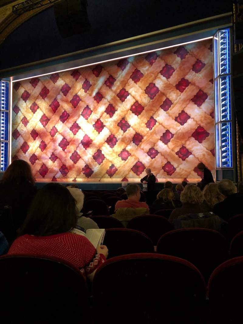 Seating view for Brooks Atkinson Theatre Section Orchestra Right Row K Seat 8