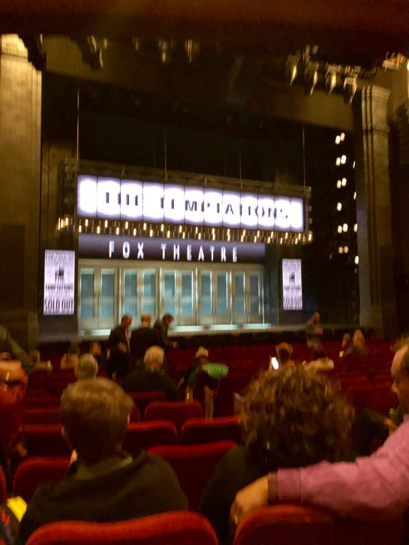 Seating view for Imperial Theatre Section Orchestra L Row N Seat 7
