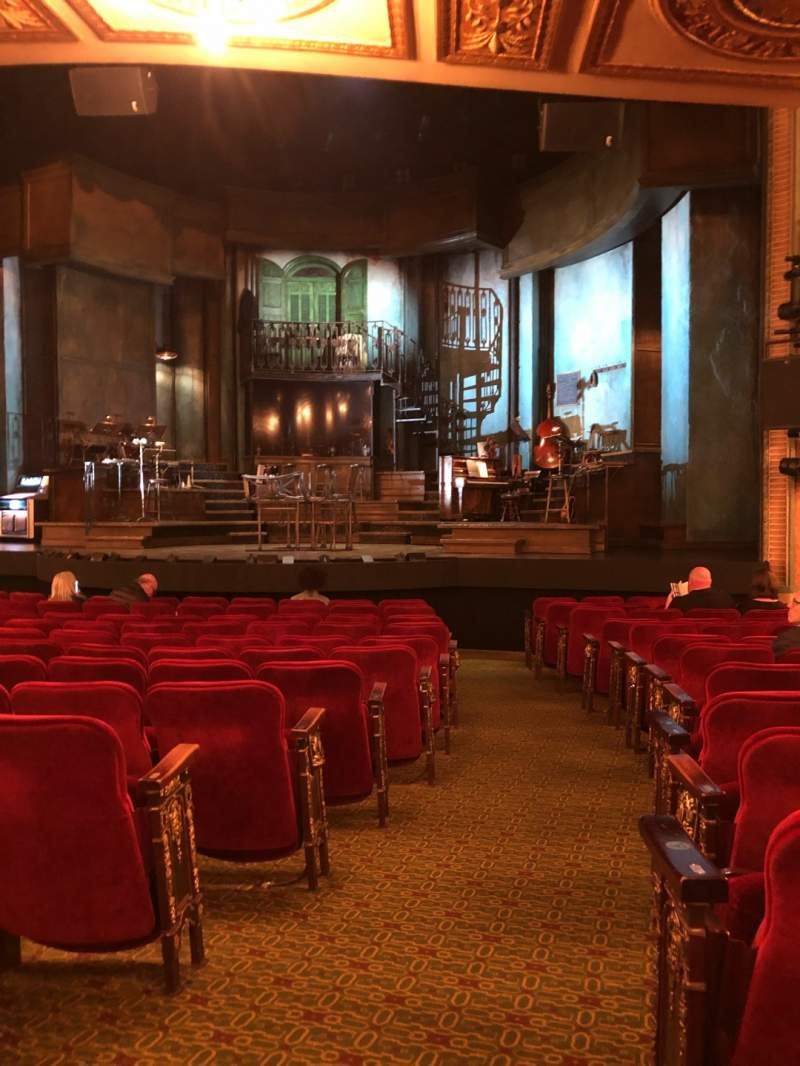 Seating view for Walter Kerr Theatre Section Orchestra R Row P Seat 2
