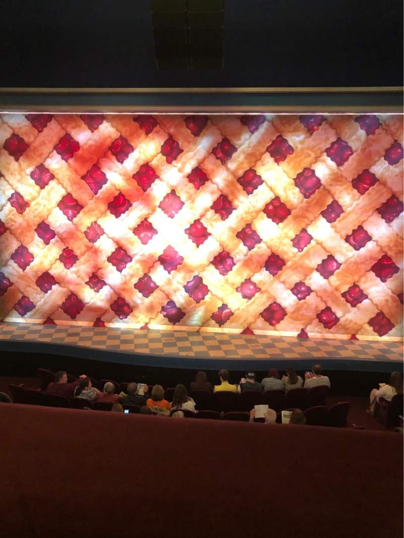 Seating view for Brooks Atkinson Theatre Section Front Mezzanine C Row A Seat 110