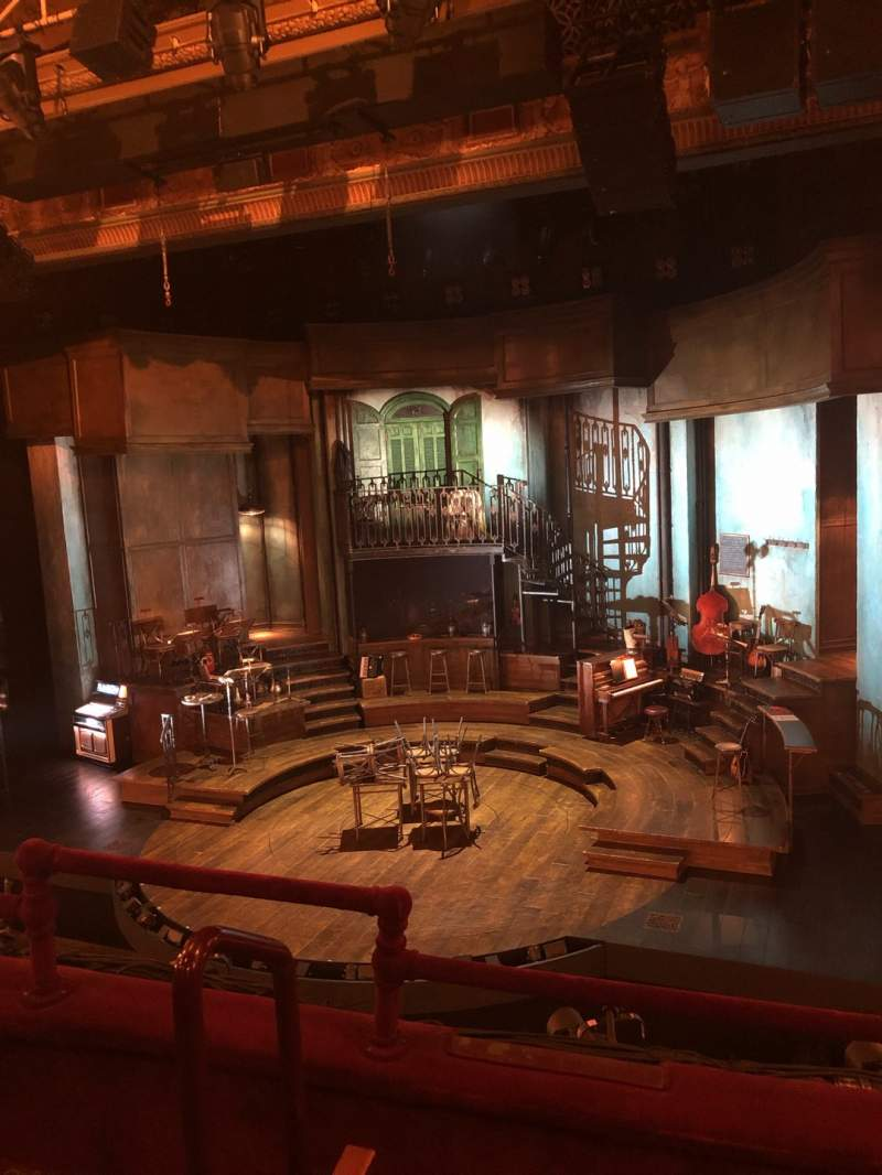 Seating view for Walter Kerr Theatre Section Mezzanine R Row C Seat 4