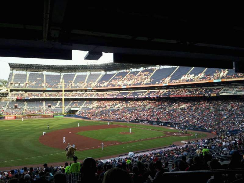 Seating view for Turner Field Section 220 Row 16 Seat 102