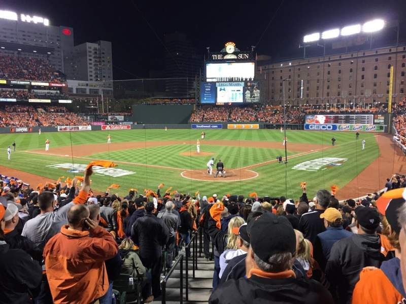 Seating view for Oriole Park at Camden Yards Section 38 Row 23