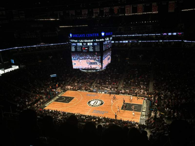 Seating view for Barclays Center Section 222 Row 9 Seat 20