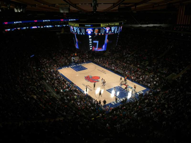 Seating view for Madison Square Garden Section 318 Row 2 Seat 1