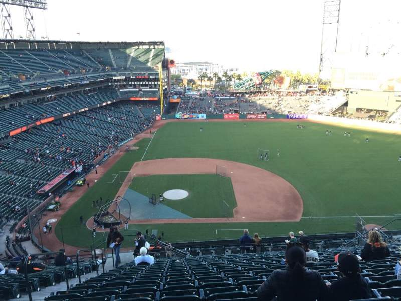 Seating view for AT&T Park Section VR308 Row 15 Seat 21