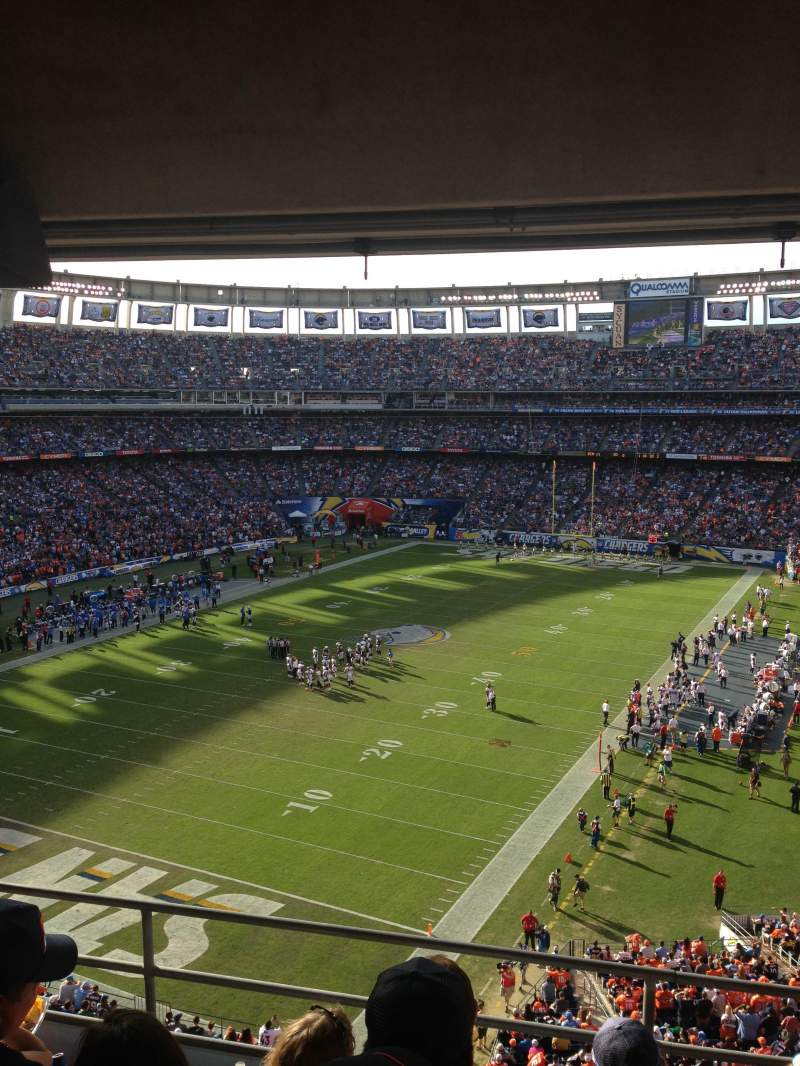 Seating view for Qualcomm Stadium Section T56 Row 4 Seat 7,8