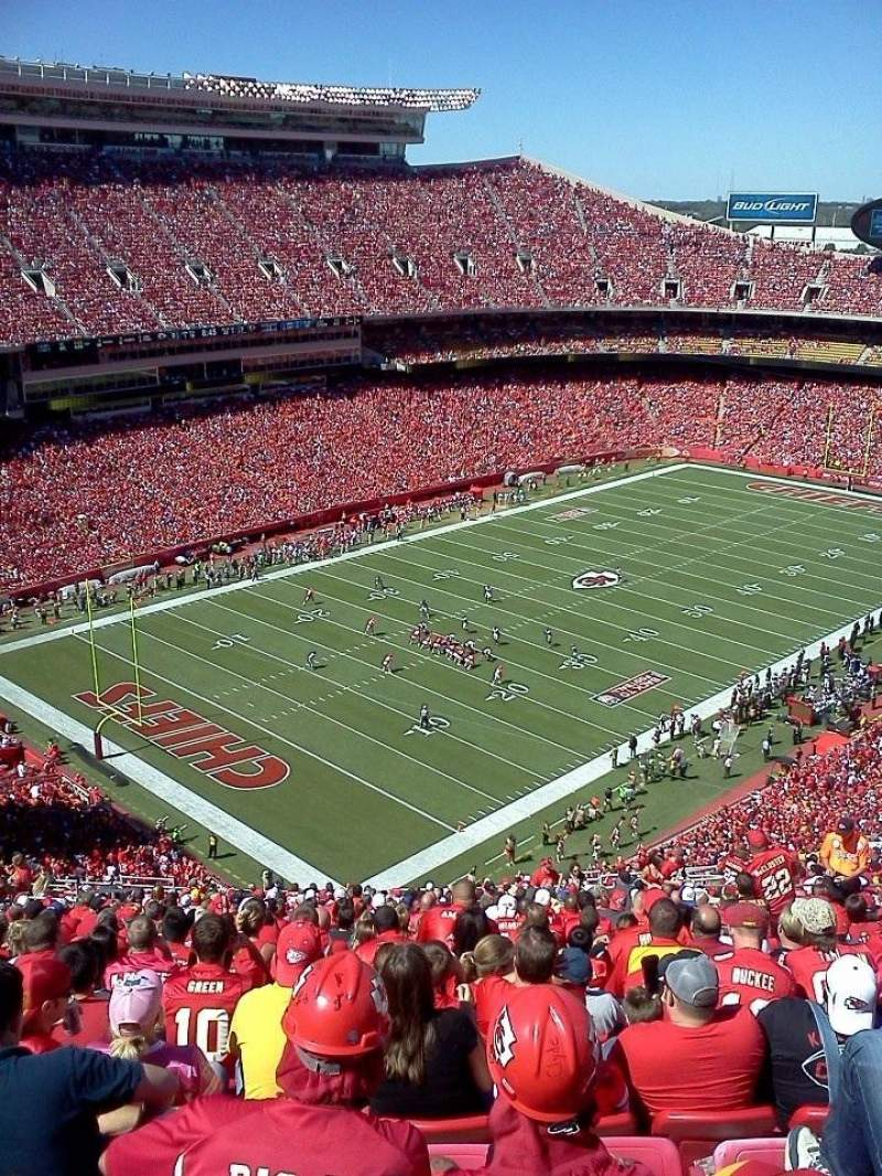 Seating view for Arrowhead Stadium Section 308 Row 31 Seat 14