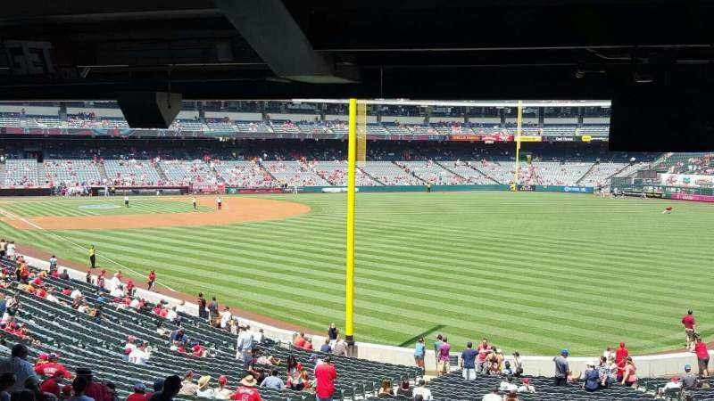 Seating view for Angel Stadium Section T231 Row SA Seat 12