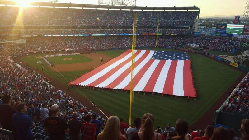Seating view for Angel Stadium Section 537 Row A Seat 8
