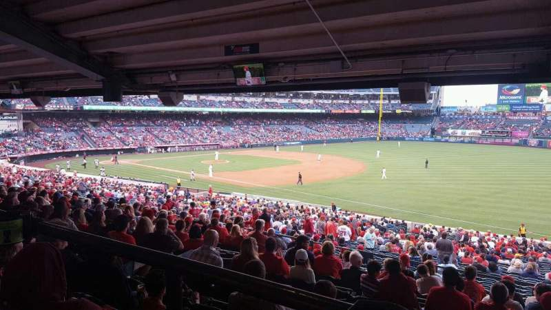 Seating view for Angel Stadium Section T227 Row SA Seat 4