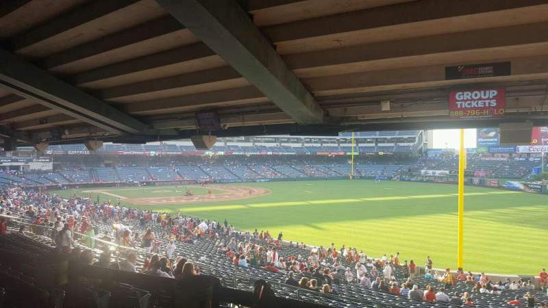 Seating view for Angel Stadium Section T230 Row SA Seat 6