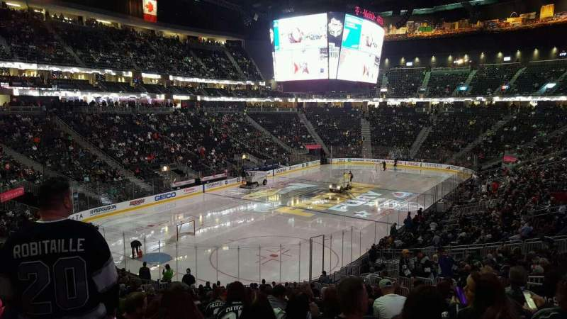 Seating view for T-Mobile Arena Section 12 Row 15 Seat 16